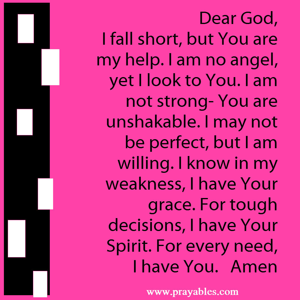 prayers for strength and grace