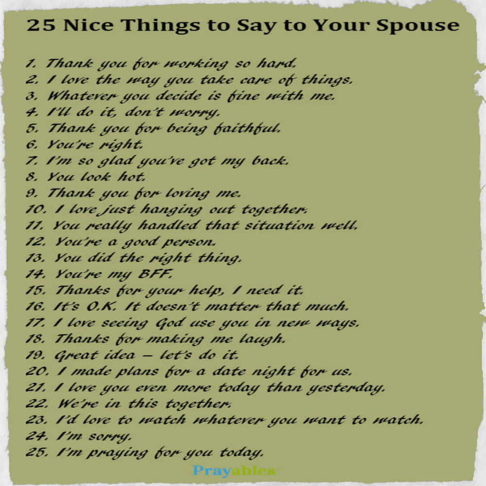 niec things to say to your spouse