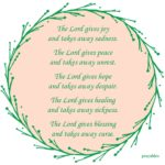 Affirmation: Lord Gives