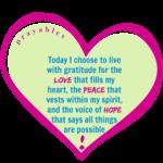 Affirmation: Love, Peace, Hope