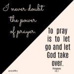 Affirmation-Bible: Power of Prayer Phil. 4:6-7