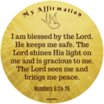 Bible Affirmation: Numbers 6:24-26