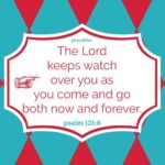 Bible: Psalm 121:8