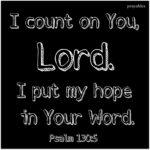 Bible: Psalm 130:5