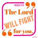 Bible: Exodus 14:14