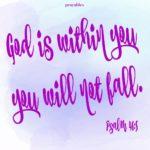 Bible: Psalm 46:5