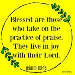 Bible: Psalm 89:15