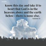 Bible: Deuteronomy 4:39