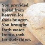 Bible: Nehemiah 9:15