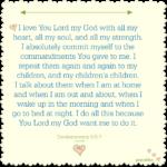 Bible: Deuteronomy 6:5-9