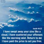 Bible: Isaiah 44:22