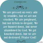 Bible: 2 Corinthians 4:8-9