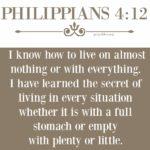Bible: Philippians 4:12