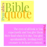 Bible: Psalm145:15-16