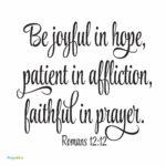Bible: Romans 12:12