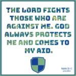 Bible Affirmation Psalms 35:1-2