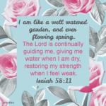 Bible Affirmation: Isaiah 58:11