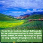 Bible Affirmation: Psalm 23:1-3