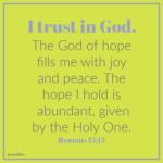 Bible Affirmation: Romans 15:13