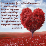 Bible Affirmation: Proverbs 3:5-6
