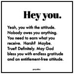Blessing: Entitlement-Free