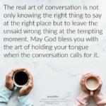 Blessing: Art of Conversation