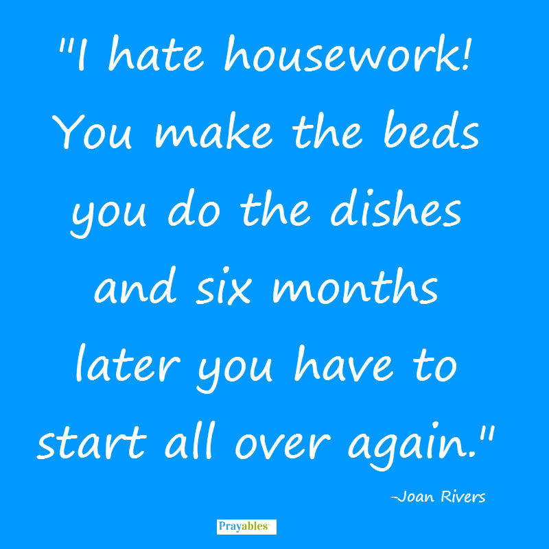 funny quotes housework