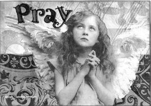 Pray postcard BW