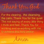 Prayer: Clearing