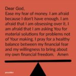 Prayer: Fear of Money