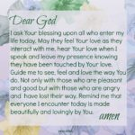 Prayer: Touched by God's Love