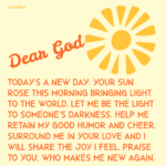 Prayer: New Day
