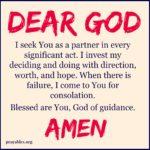 Prayer: God My Partner