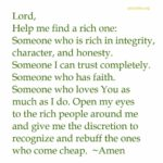 Prayer: A Rich Relationship