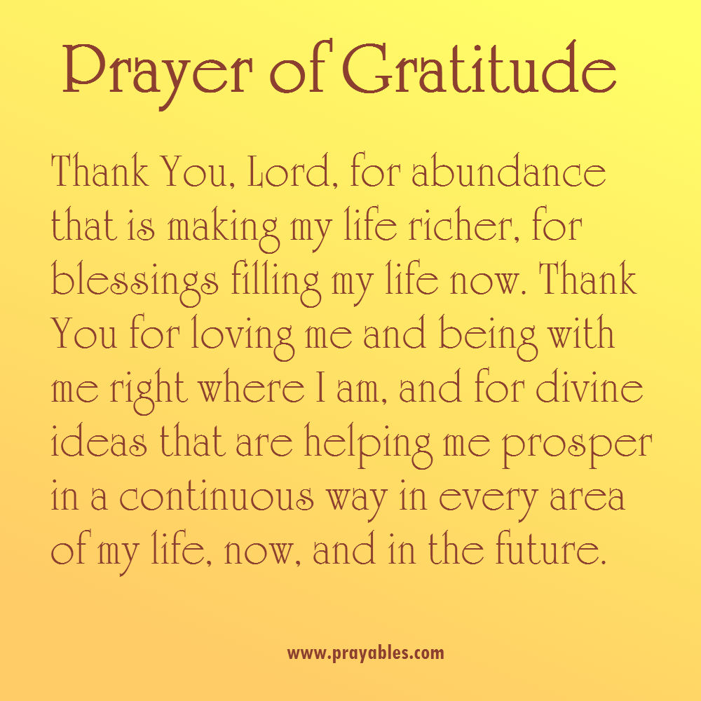 Daily Prayer of Gratitude 53