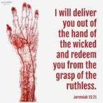 Bible: Jeremiah 15:21