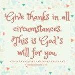 Bible: 1 Thessalonians 5:18