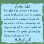 Bible: Psalm 150