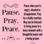 Blessing: Three P's of Reacting