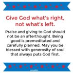 Blessing: What's Right