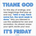 Blessing: It's Friday!