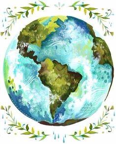 globe artwork