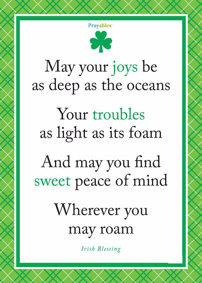 May your joys be