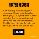 Prayer Request: Job