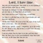 Prayer: Lord, I Have Time