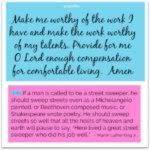 Prayer: Work Worthy