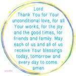 Prayer: Receive Blessings