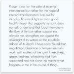 Prayer: God Support Me