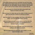Prayer: Loss of Life