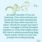 Prayer: Silence